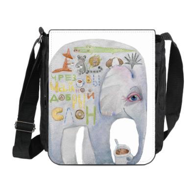 Сумка на плечо (мини-планшет) Добрый слон