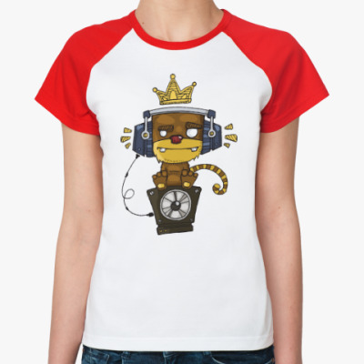 Женская футболка реглан Funky Monkey