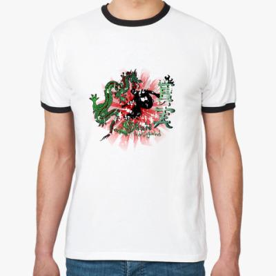 Футболка Ringer-T skate dragon