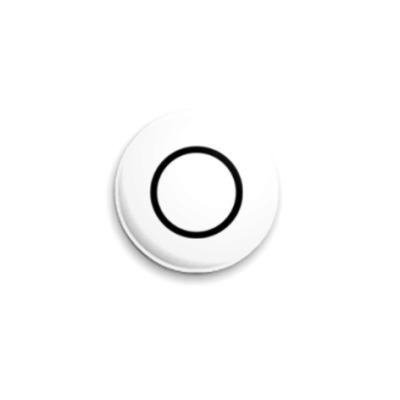 Значок 25мм Белая сенсорика 25 мм