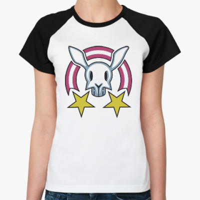 Женская футболка реглан Звездный заяц