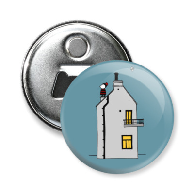 Магнит-открывашка Корнуольский домик