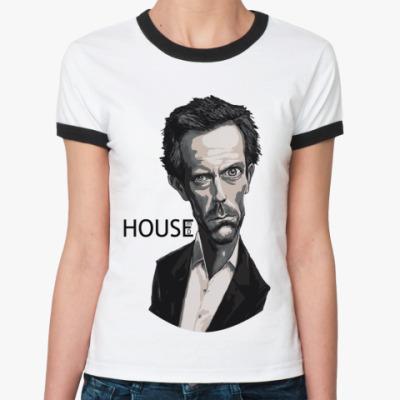Женская футболка Ringer-T House eye