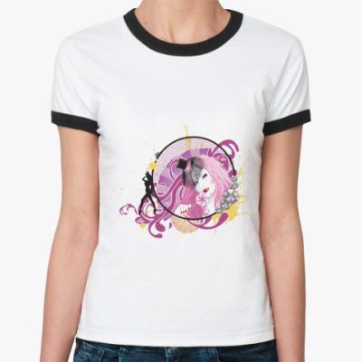 Женская футболка Ringer-T Девушка