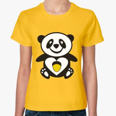 Женская футболка Панда