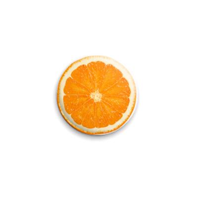 Значок 25мм 'Апельсин'