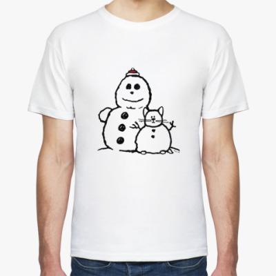 Футболка Снеговики