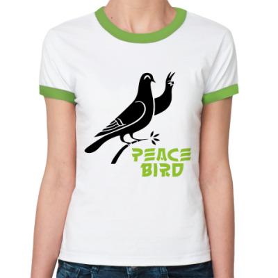 Женская футболка Ringer-T Peace Bird