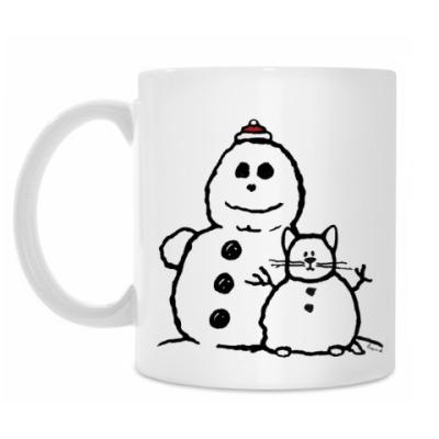 Кружка Снеговики