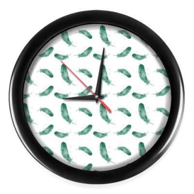 Настенные часы Перья, паттерн