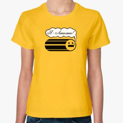 Женская футболка Лакомка