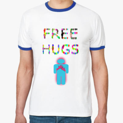 Футболка Ringer-T Тема с Free Hugs (Обними меня)
