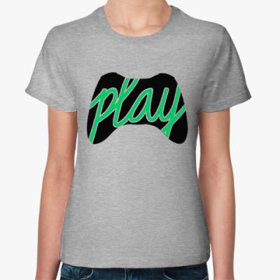 Женская футболка Игрок