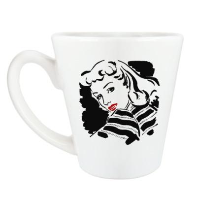 Чашка Латте Кружка  Retro Girl