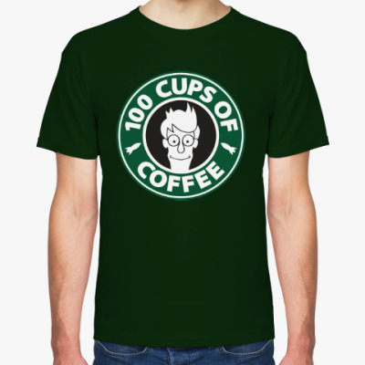Футболка Futurama coffee Starbucks