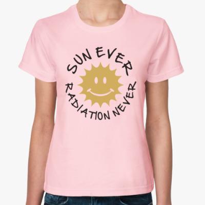 Женская футболка Солнце всегда