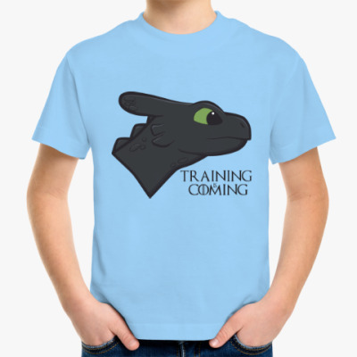 Детская футболка Обучение скоро