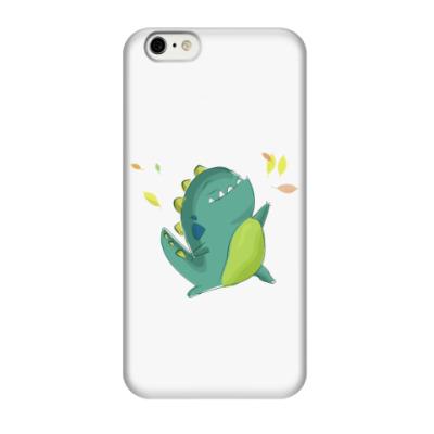 Чехол для iPhone 6/6s Осень  и динозавр