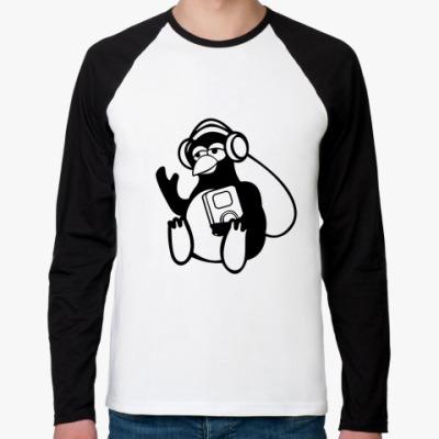 Футболка реглан с длинным рукавом Пингвин