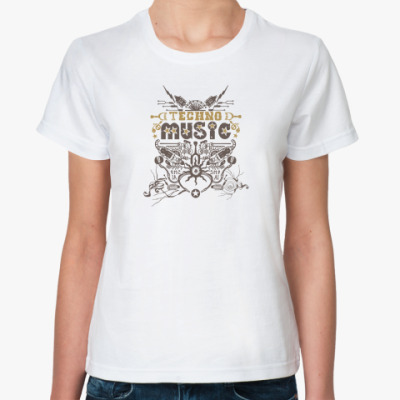 Классическая футболка Techno Music