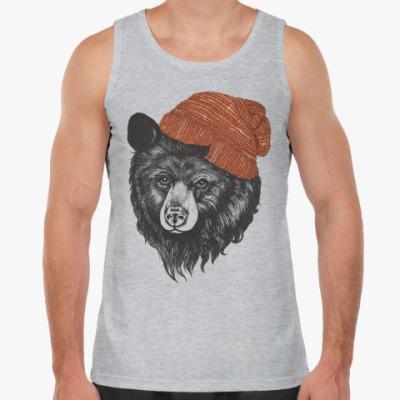 Майка Медведь в шапке