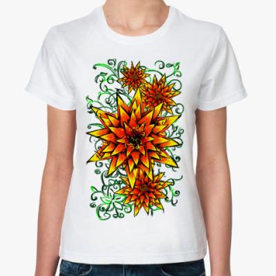 Классическая футболка цветочки