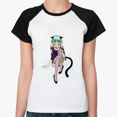 Женская футболка реглан   'Неко'
