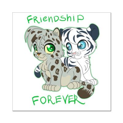 Наклейка (стикер)  Дружба