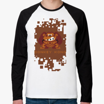 Футболка реглан с длинным рукавом Pixel Donkey Kong