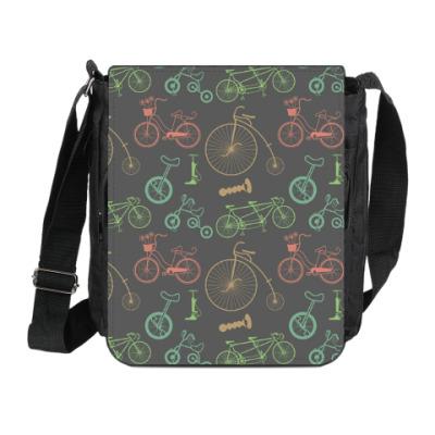Сумка на плечо (мини-планшет) Велосипеды
