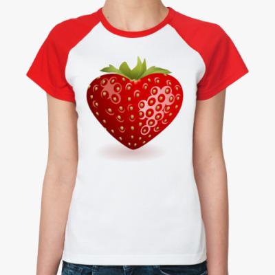 Женская футболка реглан Клубника