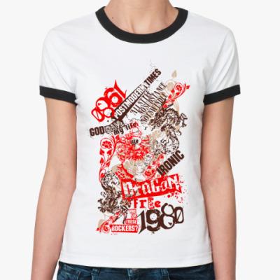 Женская футболка Ringer-T Postmodern