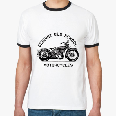Футболка Ringer-T Old School Motorcycles
