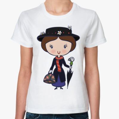 Классическая футболка Мэри Поппинс