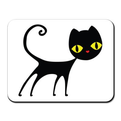 Коврик для мыши  Черный кот