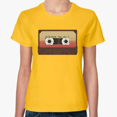 Женская футболка Кассета - стражи галактики