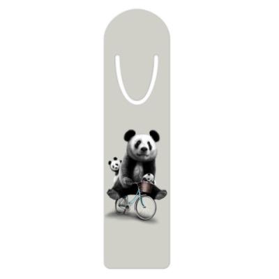 Жетон dog-tag Панды на велосипеде