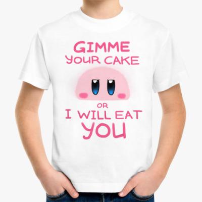 Детская футболка Kirby: Cake or Life