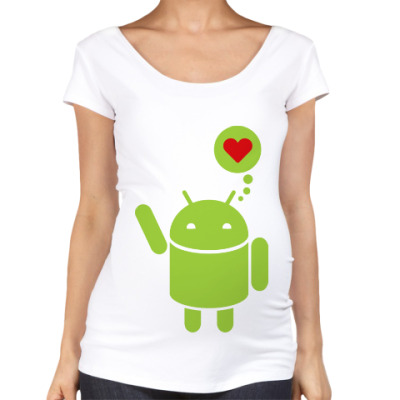 Футболка для беременных Love Android