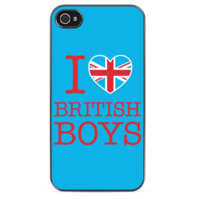 Чехол для iPhone I love british boys