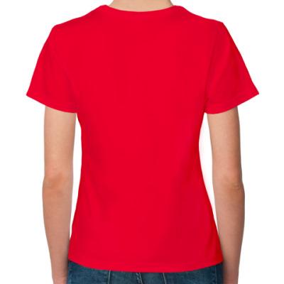 Женская футболка Fruit of the Loom, оранжевая