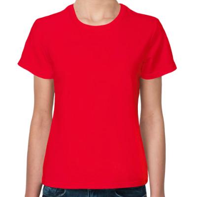 Женская футболка Женская футболка Fruit of the Loom, оранжевая