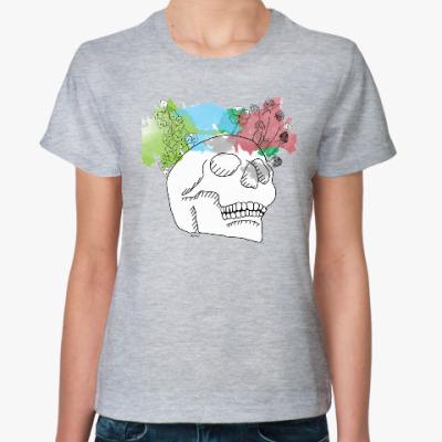 Женская футболка Мартовский череп
