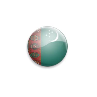Значок 25мм Turkmenistan