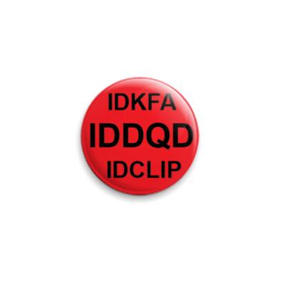 Значок 25мм IDDQD, IDKFA, IDCLIP