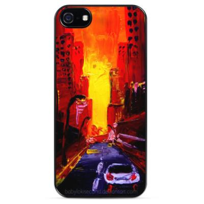 Чехол для iPhone Закат в Нью-Йорке