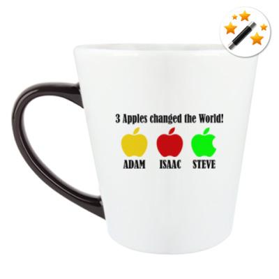 Кружка-хамелеон 3 яблока изменили мир