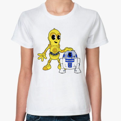 Классическая футболка C-3PO x R2-D2 (Звездные Войны)