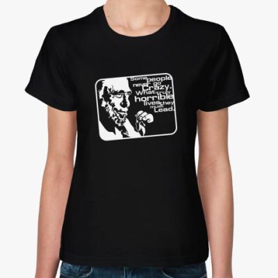 Женская футболка Буковски