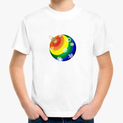Детская футболка елочный шар